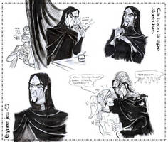 Cartoon Snape Sketches by zorm