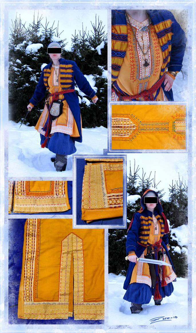 Yellow Viking tunic by zorm
