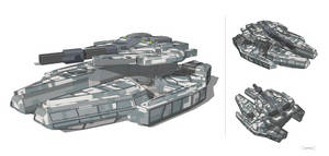 'Paladin' Hover Battle Tank by multihawk