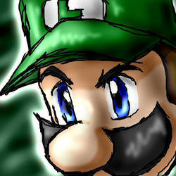 Luigi closeup by AdvanceX