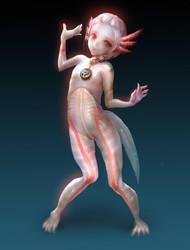 axolotl girl by coldrim
