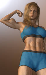 G8F Muscle Morph Test by msclgrl