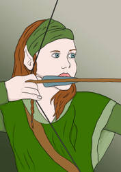 Elven Archer by Gilrael