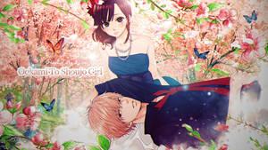 [wallpaper] Ookami to shoujo girl by XxAjisai-GraphicxX