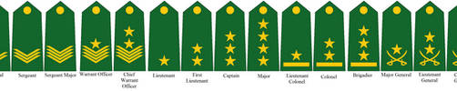Rank Insignia of the Caliphate Armed Forces by tylero79