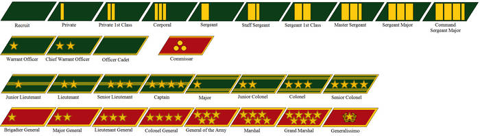 Collar Rank Insignia of the Chinese Federation by tylero79