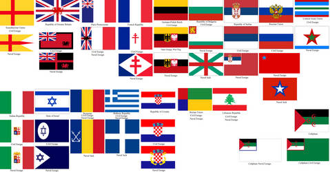 Maritime Flags of Europe by tylero79