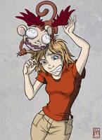 Evil Shoulder Monkey by Sanaril