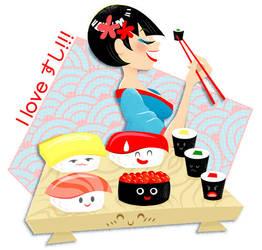 I love sushi by aikochan11