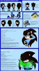 Reference Sheet Of Darcy The Hedgehog by BlueRoseAngelsHaven