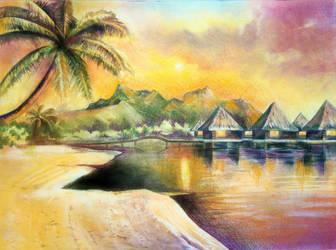 Villas Under the Sunset by shawnjzlee