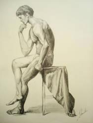 Pondering Man by shawnjzlee