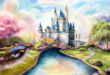 Disneyland Castle by shawnjzlee