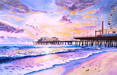 Sunset by the Santa Monica Pier by shawnjzlee