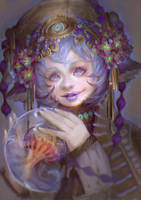 Light Hunter Closeup Portrait by oione