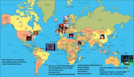 Disney Princess Map Guide By Caninesrock On Deviantart