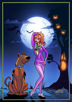 scooby doo and daphne print by paulabstruse