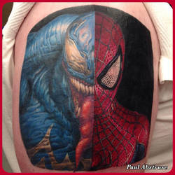Venom/Spidey face-off by paulabstruse