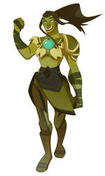 Orc Monk [c] by drekkydrimm