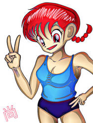 Ranma Saotome [Fanart] by psychojoinmycult
