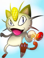 Meowth [Fanart] by psychojoinmycult