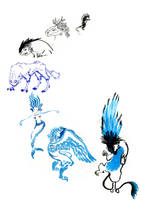 black to blue, creatures style. by Nasstia