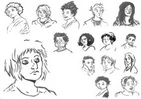 faces studies by Nasstia