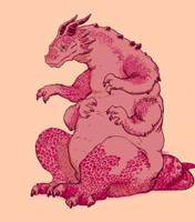 Pink dragon by Nasstia