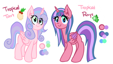 [OCS] Tropical rays and Tart [filler] by PaperKoalas