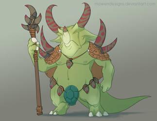 Prehistoric Warlord by MowenDesigns