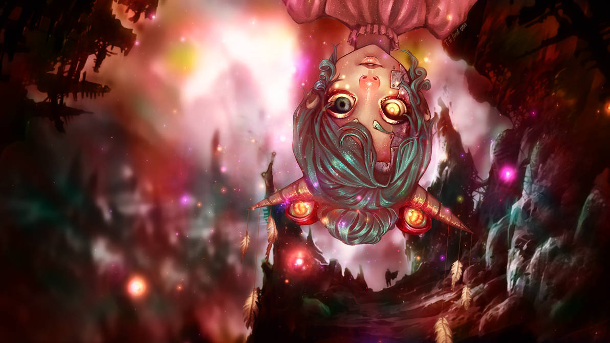Eyed Demon Horn Anime Girl Wallpaper - 1920x1080 by IAMFX