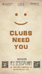 HKC's 2014 Clubs Recruiting Poster by qfzpjm159