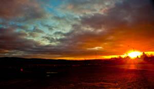 Burning Sky by Benjjam