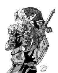 Boceto de Link by 009-1