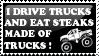 I drive trucks stamp :Girly: by Ahvohcahdoe