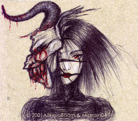 Demon-Masked Lady by AltheiaBoom