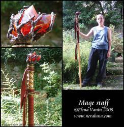 Mage staff by Lluhnij