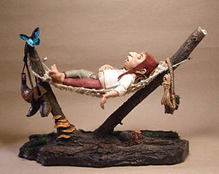 Nils had a long day (finished diorama, FOR SALE) by Lluhnij