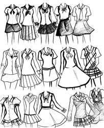 school uniforms by NeonGenesisEVARei