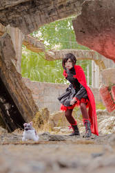 RWBY - Ruby Rose and Zwei by fleurgranger