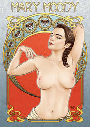 Mary Moody Art Nouveau by DaggerPoint