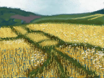 Art Academy: Barley Field by LuckyNumber113