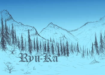 Snowy Mountain Scenery WIP by Ryu-Ka