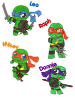 Tiny Turtles by MegaRaphael17