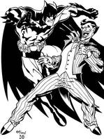 McGuinness Batman vs Joker by dubbery