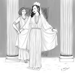 Atossa and Artystone (2) by Maria-Bazhatarnik