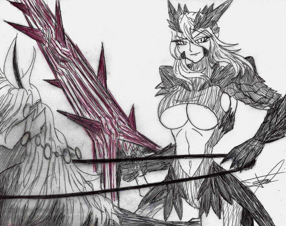 Day 18 - Altria Pendragon Lancer (Alter) by Ferchozaki