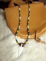 Arrowhead/ Spear necklace 1800's Regalia, mine. by jugga-lizzle