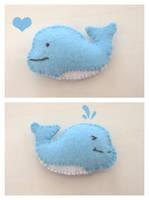 Felt Whale by vivee