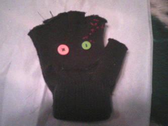 Zombie gloves by Zurisbloodyrose